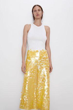 Zara Spodnie z cekinami z limitowanej edycji