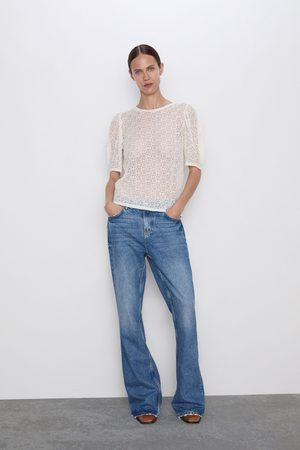 Zara Koszulka z tkaniny strukturalnej