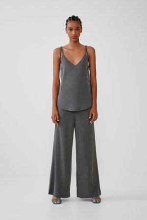 Zara Szerokie spodnie o luźnym kroju