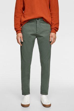 Zara Spodnie chinosy z kolekcji premium