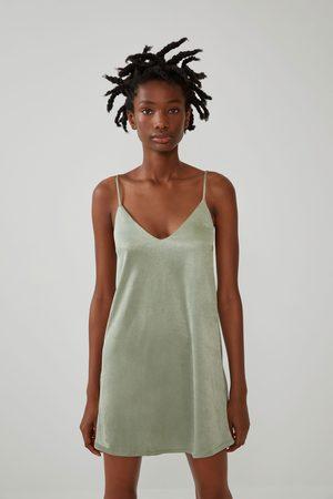 Zara Sukienka w stylu bieliźnianym