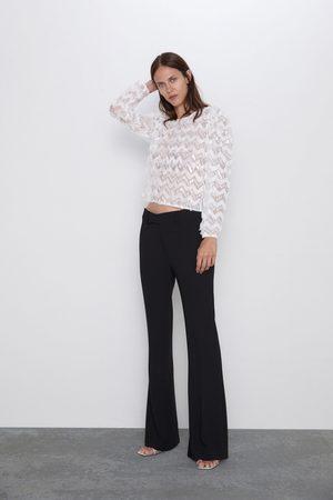 Zara Sweter ze wstawkami z tiulu i cekinami