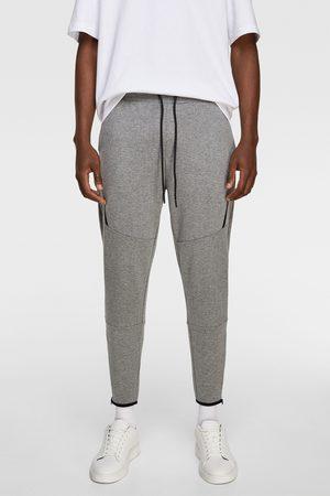 Zara Spodnie joggery z suwakami