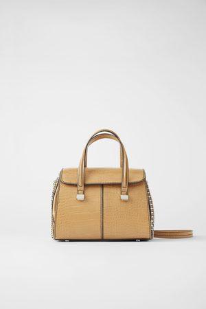 Zara Mini torebka typu shopper w zwierzęcy deseń