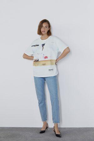 Zara Kobieta Z krótkim rękawem - Koszulka z nadrukiem ©radiohead