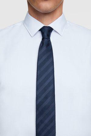 Zara Mężczyzna Krawaty - Szeroki krawat w paski