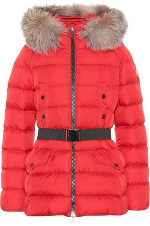 Moncler Kobieta Kurtki puchowe - Clion quilted fur-trimmed down coat