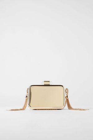Zara Torebka typu kuferek w kolorze złotym