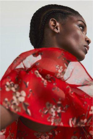 Zara Sukienka z nadrukiem kwiatu