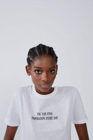 Zara Koszulka z nadrukiem z przodu