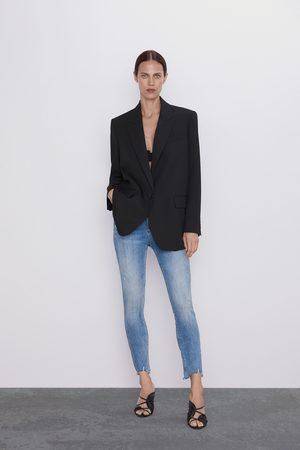 Zara Spodnie jeansowe zw premium '80s high waist old blue