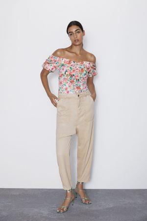 Zara Spodnie o kroju baggy