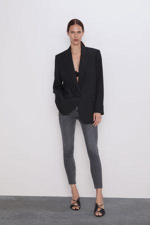 Zara Spodnie jeansowe zw premium '80s high waist inox black
