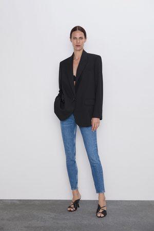 Zara Spodnie jeansowe zw premium '80s skinny bering blue