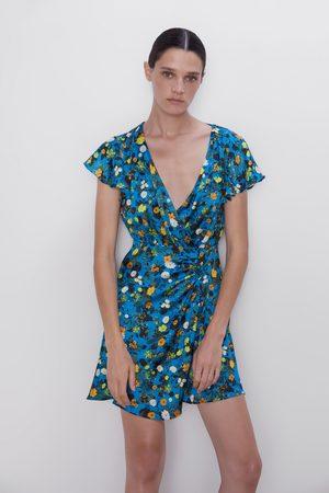 Zara Sukienka mini z nadrukiem w kwiaty