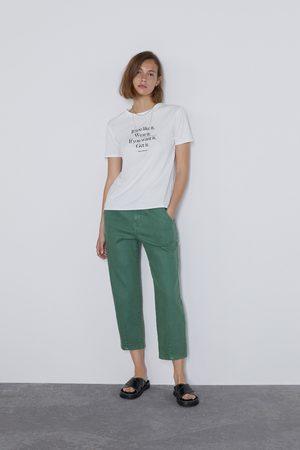 Zara Koszulka z napisem z przodu