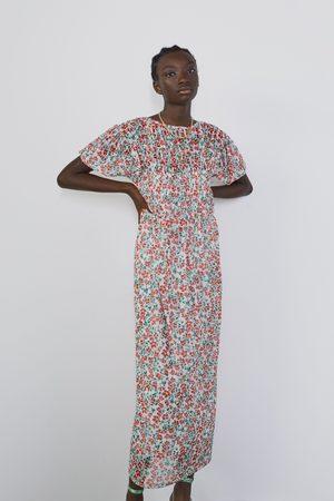 Zara Tiulowa sukienka w kwiaty