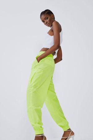 Zara Nylonowe spodnie joggery