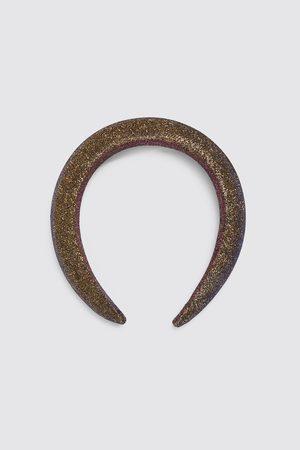 Zara Opaska na włosy z wypełnieniem i błyszczącymi aplikacjami