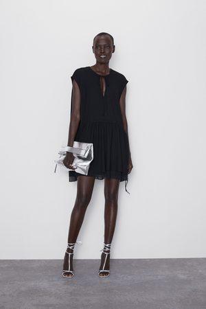 Zara Sukienka mini z łączonych tkanin