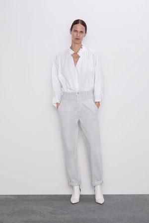 Zara Spodnie jeansowe zw premium '80s tapered ice stone