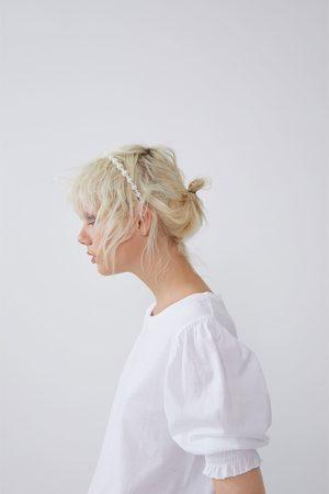 Zara Koszulka z elastycznym zdobieniem