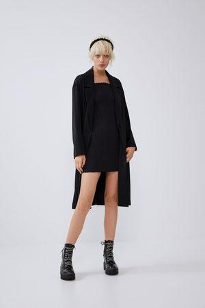 Zara Długi płaszcz o luźnym kroju