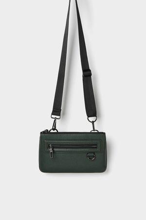 Zara Zielona mini torebka typu nerka z możliwością łączenia