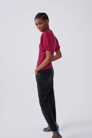 Zara Szeroka koszulka z tkaniny strukturalnej