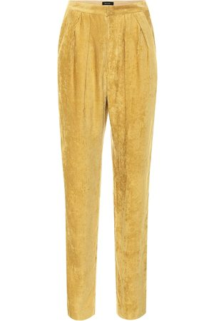 Isabel Marant Fany high-rise straight velvet pants