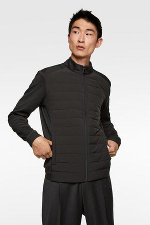Zara Pikowana kurtka z łączonych materiałów