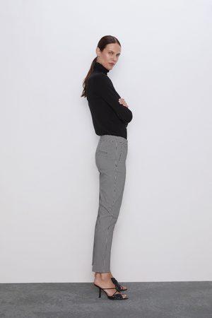 Zara Spodnie w drobną kratkę