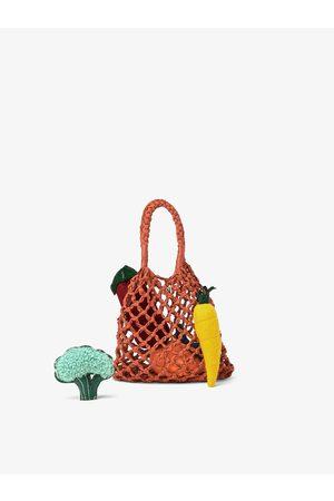 Zara Torba typu shopper z ozdobnymi warzywami