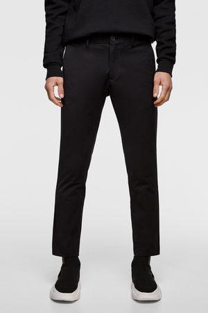 Zara Spodnie z tkaniny technicznej o krótszym kroju