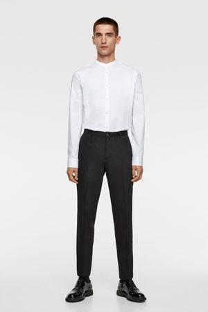 Zara Koszula z elastycznej tkaniny ze stójką
