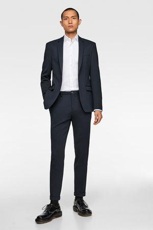 """Zara Spodnie od garnituru o wygodnym kroju z dzianiny strukturalnej typu """"4 way"""""""