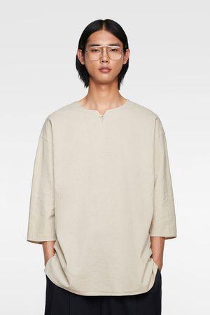 Zara Koszula w stylu rustykalnej o luźnym kroju