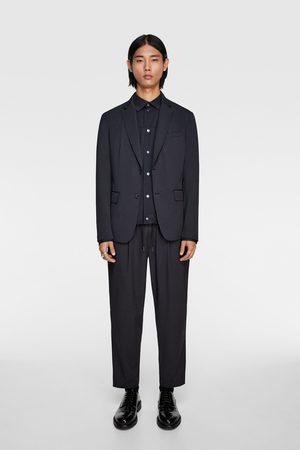 Zara Mężczyzna Spodnie - Spodnie od garnituru z tkaniny strukturalnej w paski