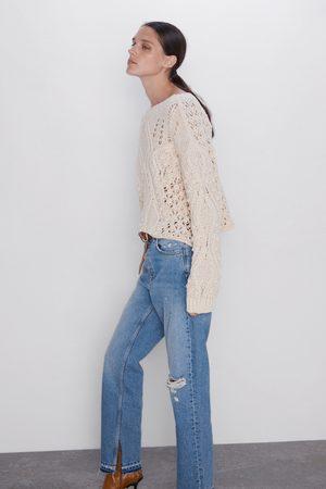 Zara Proste spodnie jeansowe z wysokim stanem z kolekcji z1975