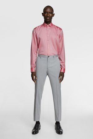 Zara Koszula z tkaniny strukturalnej nieprzyjmującej plam