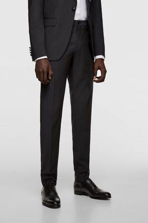 Zara Spodnie smokingowe z lampasami