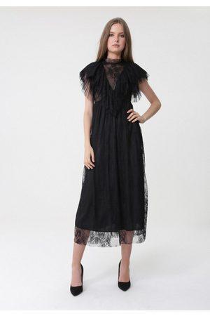 BORN2BE Czarna Sukienka Characteriz