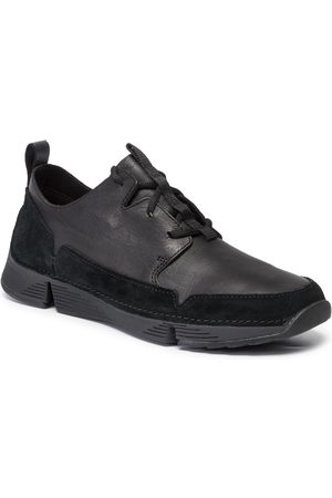 Clarks Sneakersy - Tri Solar 261463197 Black Leather