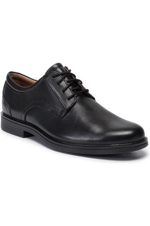 Clarks Półbuty - Un Aldric Lace 261326777 Black Leather