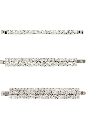 Alessandra Rich Set of 3 embellished hair slides