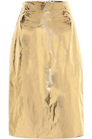 Nº21 Foiled metallic skirt