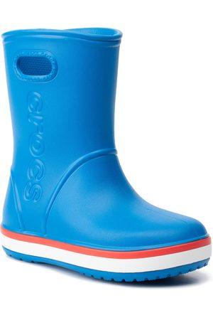 Crocs Kalosze - Crocband Rain Boot K 205827 Bright Cobalt/Flame
