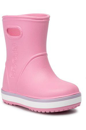 Crocs Dziewczynka Botki - Kalosze - Crocband Rain Boot K 205827 Pink Lemonade/Lavender
