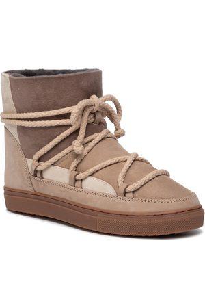 INUIKII Kobieta Kozaki - Buty - Sneaker Patchwork 70102-75 Beige
