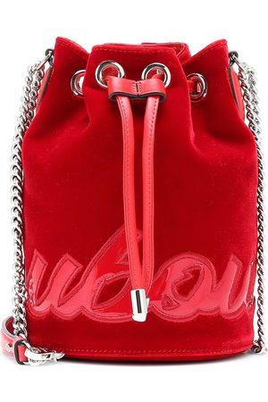 Christian Louboutin Marie Jane velvet bucket bag